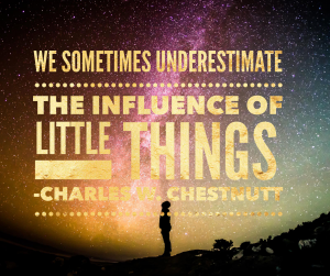 The importance of little things quote