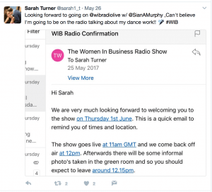 Women In Business Radio Tweet