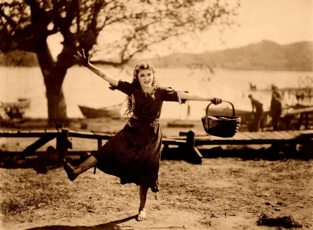 mary pickford, dancing, happy